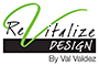 Revitalize Design by Valz Valdez logo